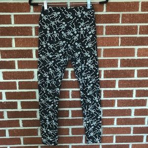 LulaRoe Halloween skeleton leggings NWOT OS